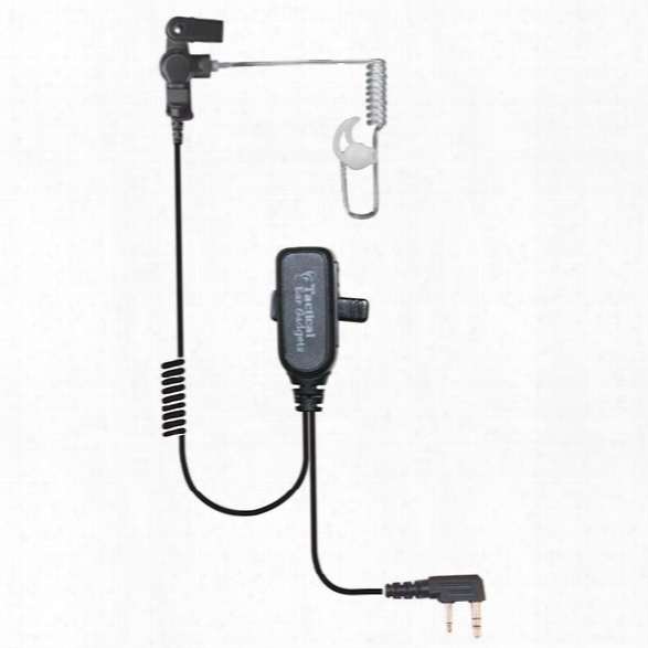 Earphone Connection Hawk Lapel Mic With Ptt Button, For Kenwood Radios - Clear - Male - Included