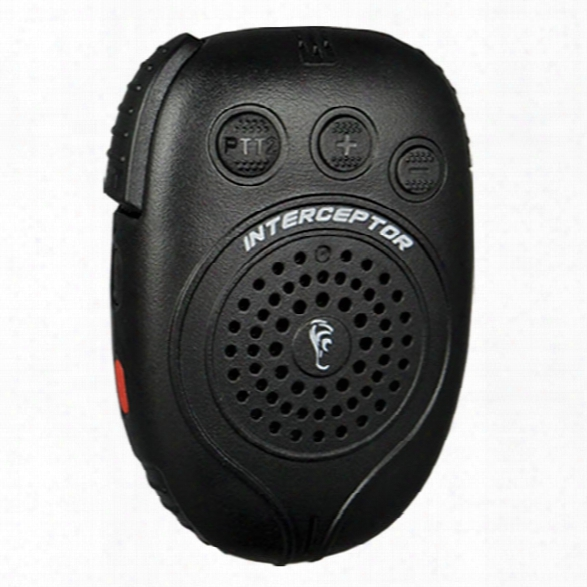 Earphone Connection Interceptor Bluetooth Speaker Mic W/ Dual Ptt, No Adapter - Blue - Unisex - Included