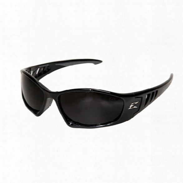 Edge Eyewear Baretti Safety Sunglasses W/ Black Frame And Smoke Lens - Black - Unisex - Included