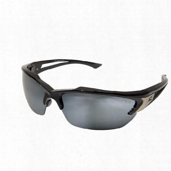 Edge Eyewear Kohr Safety Sunglasses W/ Black Frame And Smoke Lens - Black - Unisex - Included