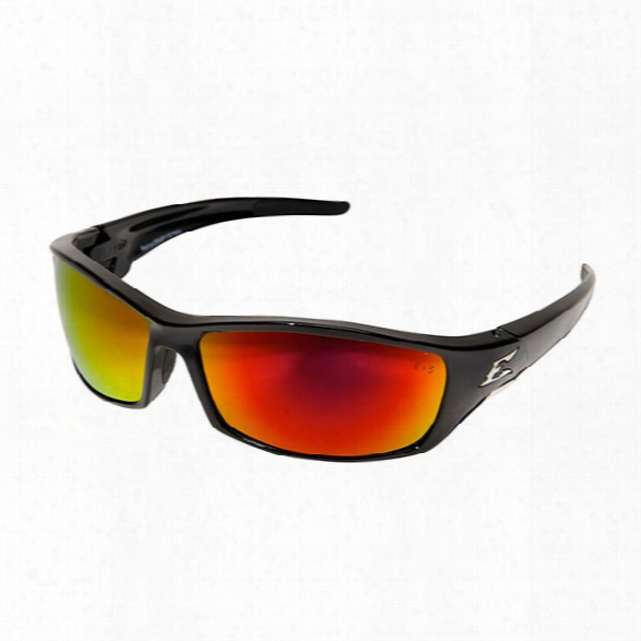 Edge Eyewear Reclus Safety Sunglasses W/ Black Frame And Smoke Lens - Black - Unisex - Included