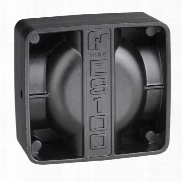 Federal Signal Dynamax/es100 100w High Output Speaker, Compact, Class A - Black - Male - Excluded