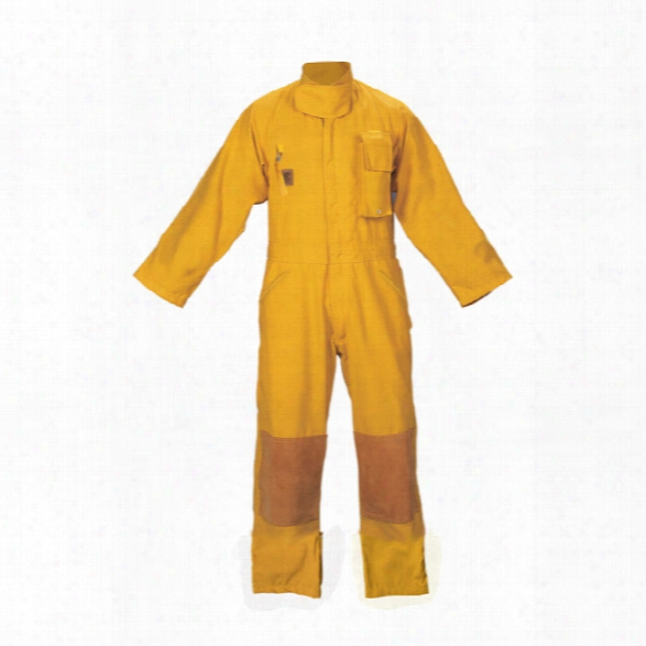 Fire-dex Wildland Coverall 6oz Nomex Yellow 2xlarge - Yellow - Male - Included