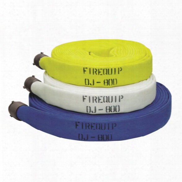 "Firequip 800 Fire Hose, 1-1/2"" X 100-ft., Blue - White - Male - Excluded"