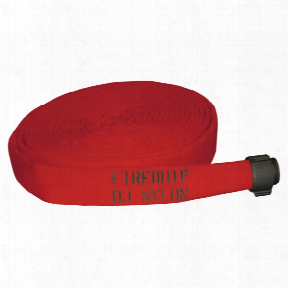 Firequip Double Jacket Nylon Fire Hose, Aluminum Nst, 1.5-in. X 100-ft., Red - Blue - Male - Excluded