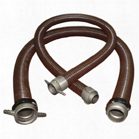 """Firequip Maxi-flex Pvc Fire Hose, Lhf X Rlm Adapter, 3"""" X 10-ft. - Clear - Unisex - Excluded"""