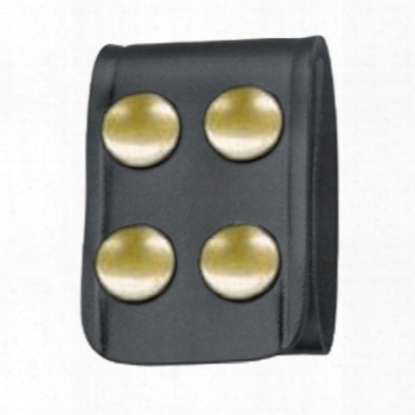 Gould & Ggoodrich 129 Quad Belt Keeper, Basketweave, Brass Snap - Unisex - Included