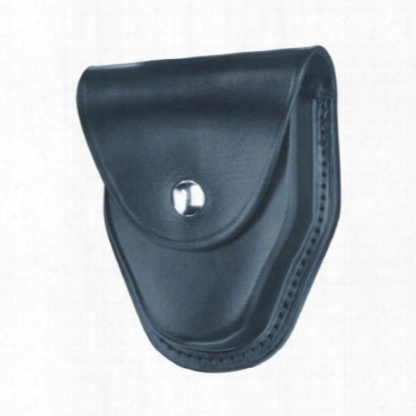 Gould & Goodrich 470 Handcuff Case, Plain Black, Nickel Snap, Fits Chain Handcuffs - Black - Unisex - Included