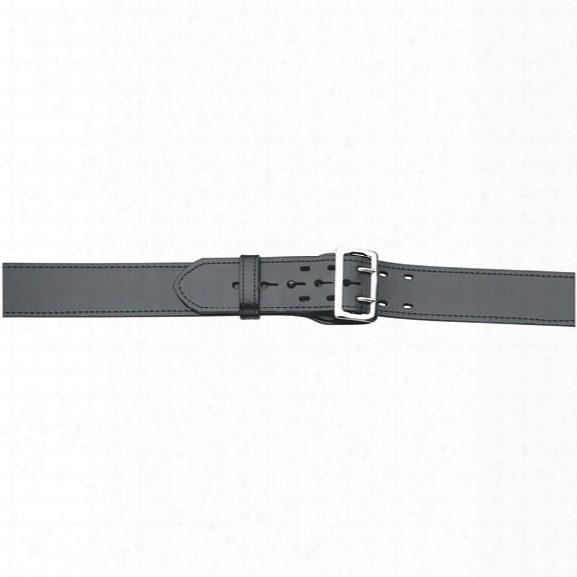 "Gould & Goodrich 49 E-z Slide Duty Belt, Plain Black, Nickel Buckle, 24"" - Black - Unisex - Included"