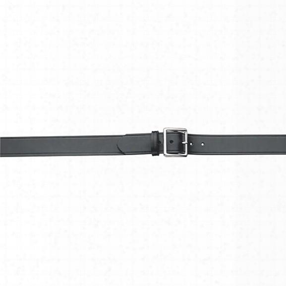 "Gould & Goodrich 52 Pants Belt, Plain Black, Nickel Buckle, 28"" - Brass - Unisex - Included"