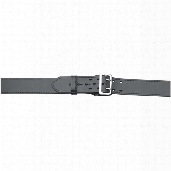 "Gould & Goodrich 59 Sam Browne Lined Duty Belt, Plain Black, Nickel Buckle, 24"" - Black - Unisex - Included"