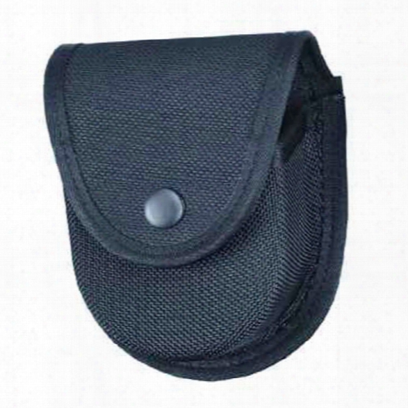 Gould & Goodrich 596 Double Handcuff Case, Ballistic Nylon, Black Snap - Black - Unisex - Included