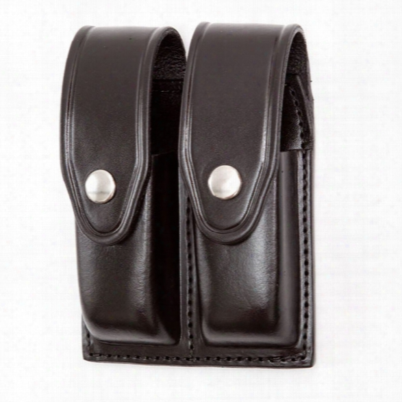 Gould & Goodrich 627 Double Magazine Case, Plain Black, Nickel Snap, Fits Sig 220, 225, 239, 245 - Black - Unisex - Included