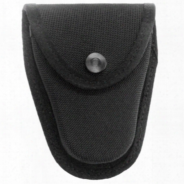 Gould & Goodrich 70 Handcuff Case, Ballistic Nylon, Black Snap, Fits Chain Handcuffs - Black - Unisex - Included