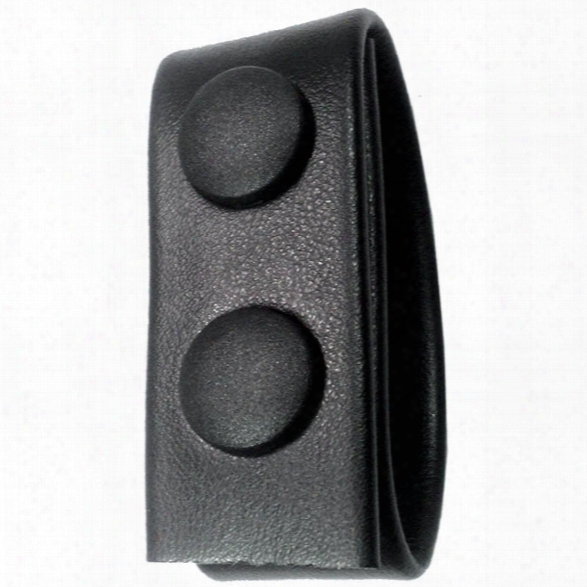 "Gould & Goodrich 76 1"" Double Snap Belt Keeper, Plain Black - Black - Unisex - Included"