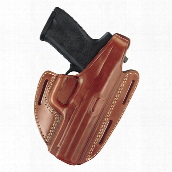 Gould & Goodrich 803 Three Slot Pancake Holster, Chestnut Brown, Rh, Fits Most 1911-type Pistols With 4.75 Inch To 5.0 Inch Bbl - Brown - Male - Included
