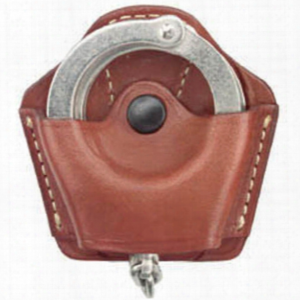 Gould & Goodrich 820 Open Top Cuff Case, Chestnut Brown, Paddle Style, Fits Most Chain & Hinged Handcuffs - Brown - Unisex - Included