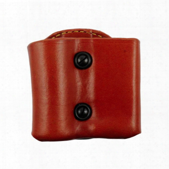 Gould & Goodrich 860 Flashlight/mag Pouch, Chestnut Brown, Rh, Fits Sig 9mm, .357, .40, .45, S&w M&p 9mm, .40, .357 - Brown - Male - Included