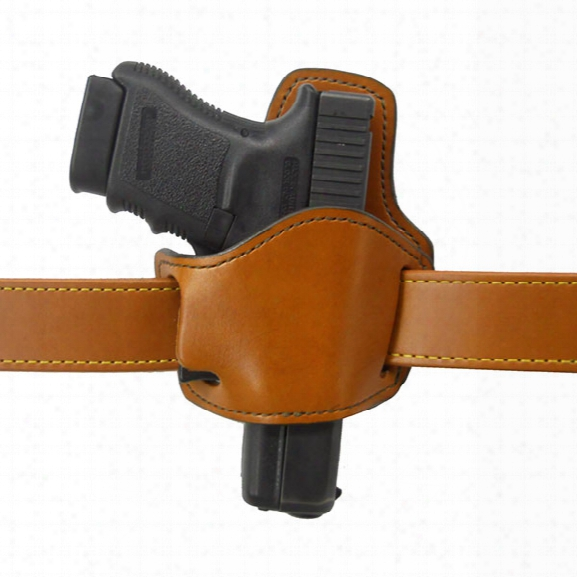 Gould & Goodrich 895 Low Profile Belt Slide Holster, Chestnut Brown, Rh, Fits Most Small Frame Auto Pistols - Brown - Male - Included