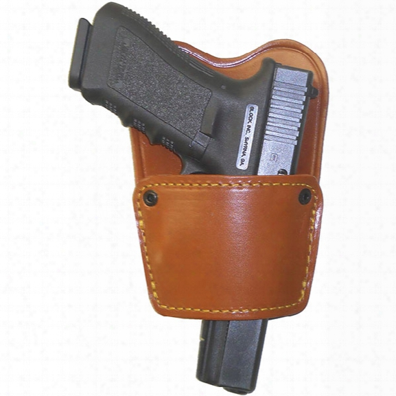 Gould & Goodrich 896 Ambidextrous Concealment Holster, Chestnut Brown, Rh, Fits Most Small Frame Auto Pistols - Brown - Male - Included