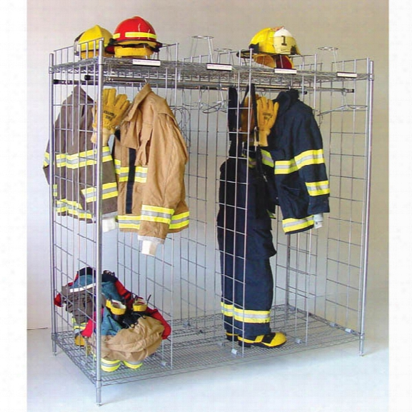 "Groves Free-standing Ready Rack, 108"", 12-section, Double-sided System - Chrome - Male - Included"
