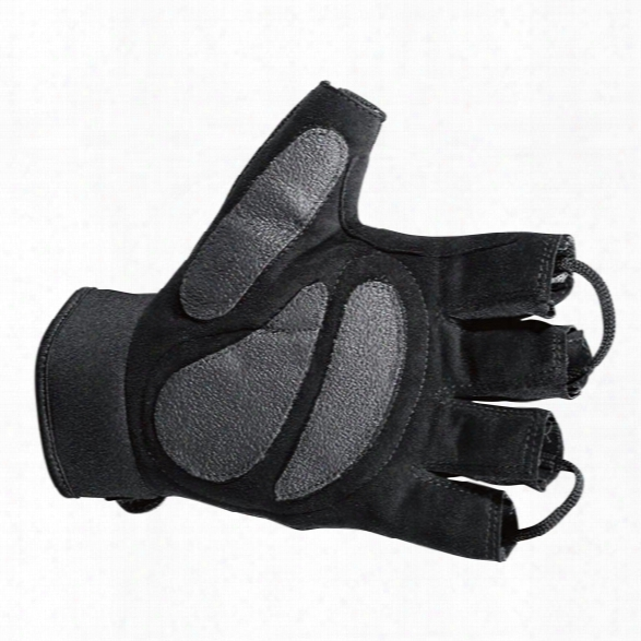 Hatch Hlg250 Shearstop Half Finger Cycle Glove, Black, 2x-large - Black - Male - Included