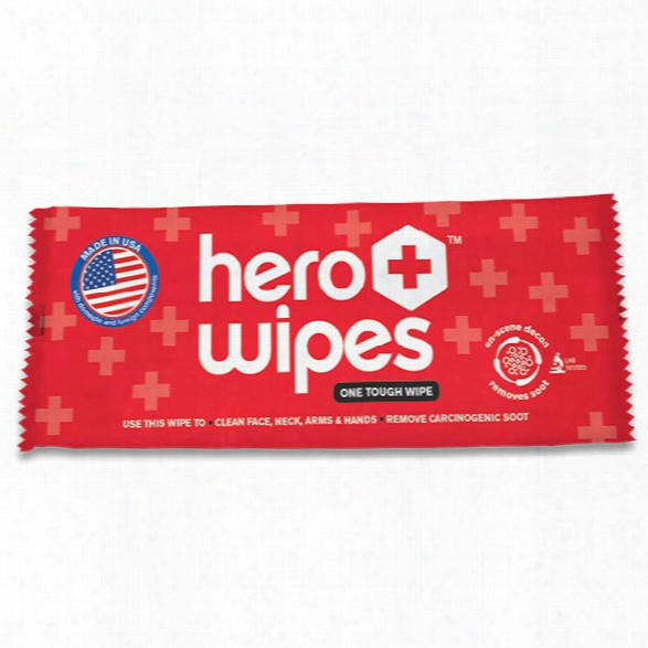 Hero Wipes Single Decontamination Wipe For Firefighers, 250/box - Unisex - Included