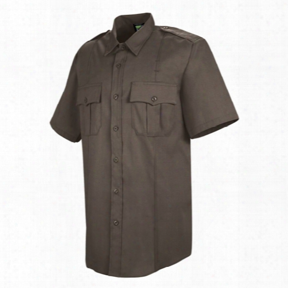 Horace Small Deputy Deluxe Short Sleeve Shirt, Brown, 14.5 Collar, 65% Poly/35% Rayon - Brown - Male - Included