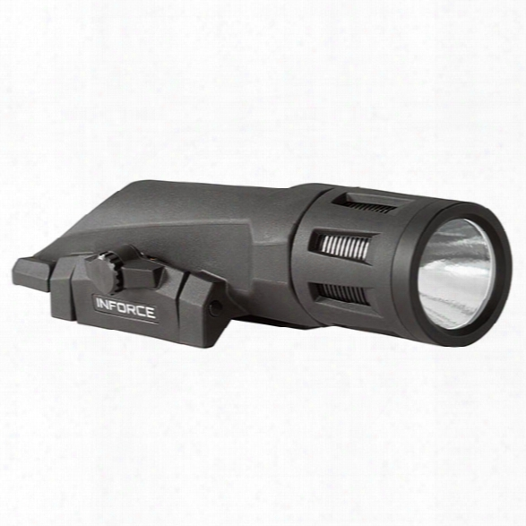 Inforce Weapon Mounted Light, 700 Lumens, White/ Ir Led, High/low/strobe, Black - White - Male - Included
