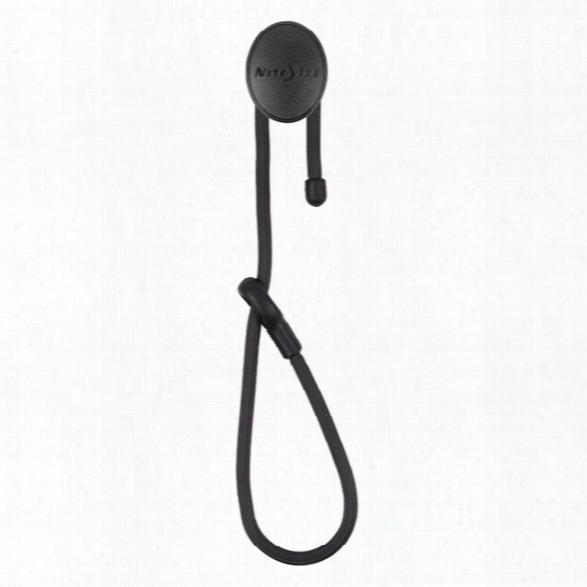 """Nite Ize Gear Tie® Dockable 12"""" Twist Tie, Black - Black - Male - Included"""