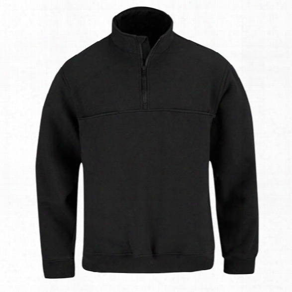 Propper 1/4 Zip Job Shirt, Black, 2x-large Long - Black - Male - Included