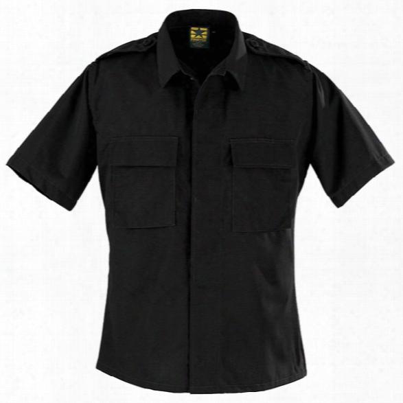 Propper Bdu Battle Rip Ss Dress Shirt, Black, 2x Long - Black - Male - Included