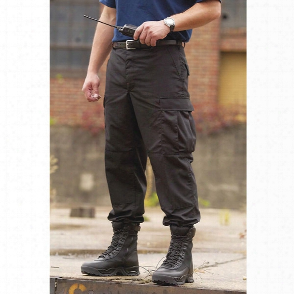 Propper Bdu Cotton Ripstop Pant, Black, 2xl Reg - Black - Male - Included
