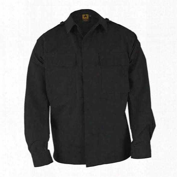 Propper Bdu P/c R/s L/s Shirt, Black, 2x Long - Black - Male - Included