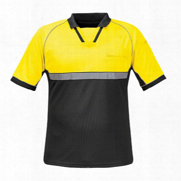 Propper Bike Patrol Polo, Hi-vis Yellow, 2x-large - Black - Male - Included