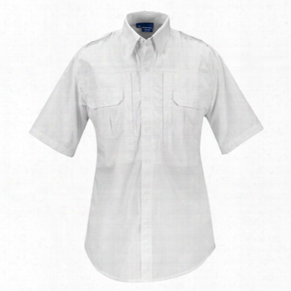 Propper Tactical P/c Poplin Ss Shirt, White, 2xl Regular - White - Male - Included