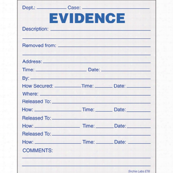 Sirchie Combo Evidence/chain Of Possession Labels, 4 In. X 5 In., 100 Per Pack - Unisex - Included