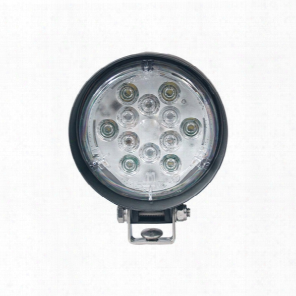 Soundoff Signal 1400 Lumen Par 36 Led Work Light W/u-bracket, Flood Lens, 10-16v, White - Clear - Male - Included