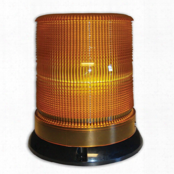 Soundoff Signal 4400 Series Led Beacon, 10-15v, Flat/pipe Mount Amber Lens/amber Leds - Male - Included