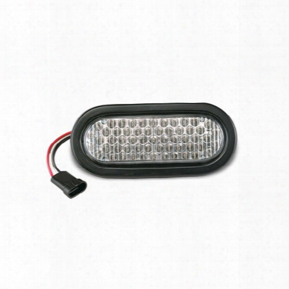 """Soundoff Signal O6 Series (6"""" Oval) Gen2 Led Light For Recess Mount Includes Rubber Grommet, Amp Sure Seal Connector & Mating Harness - Clear Lens/amb - Clear -"""