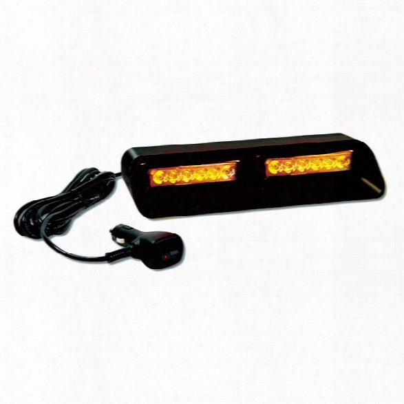 Star Headlight Versa Star® Dlx6-hk Warning Light, Dual 6 Led Array, Amber - Blue - Male - Included