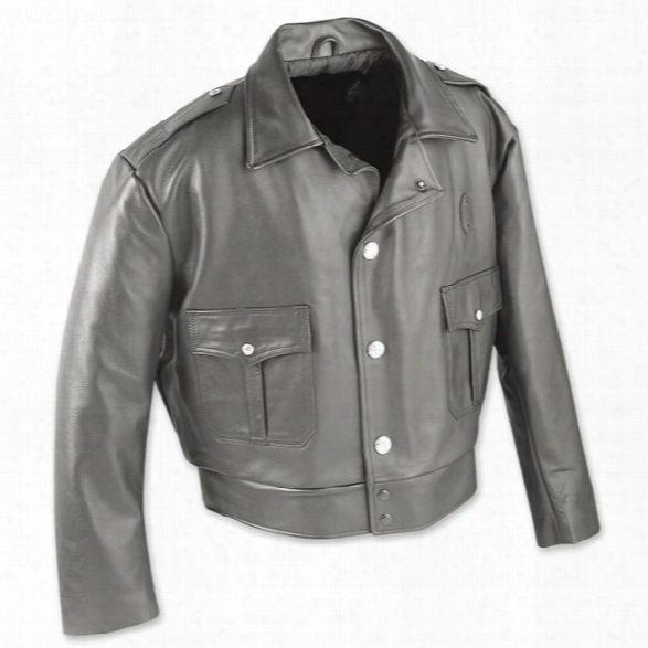 Taylors Leatherwear Milwaukee Leather Jacket W/ Zip-out Liner, Black, Xx-large, Long - Silver - Male - Included