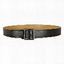 "Dutyman 1611 1.75"" Garrison Belt, Plain Black, Standard Gold Buckle, 28"" - Black - Unisex - Included"