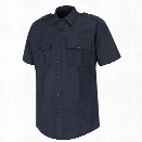 Horace Small Cotton Button-Front Long Sleeve Shirt, Dark Navy, 2X-Large with 32/33 Sleeve - Blue - male - Included