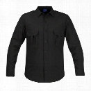 Propper Summerweight Tactical Long Sleeve Shirt, Black, 2X-Large Long - Black - male - Included