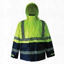 Viking Journeyman Trilobal Two Tone Jacket, Fluorescent Green-Dark Blue, 2X-Large - Green - male - Included