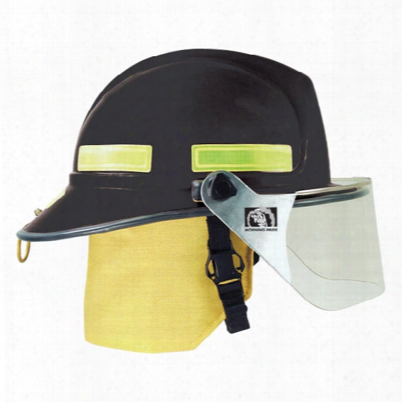 Total Fire Group Lite Force Plus Fire Helmet, Black - Gold - Male - Included