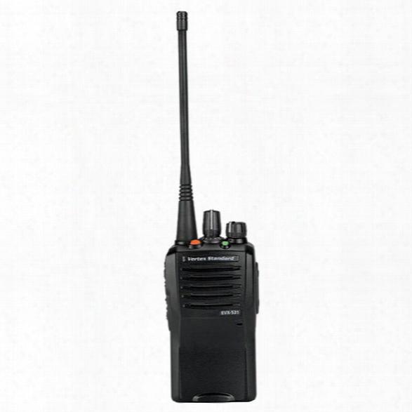 Vertex Standard Evx-530 Digital Radio, Uhf 5 Watt, 32 Channel, Atu-16d Antenna, H2o-proof - Clear - Male - Included