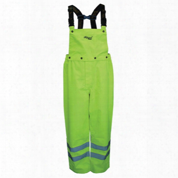 Viking Journeyman Trilobal Safety Bib Pants, Fluorescent Green, 2x-large - Green - Male - Included