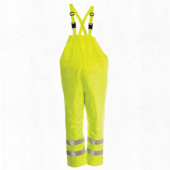 Viking Open Road 150 Denier Rip Stop Safety Bib Pant, Fluorescent Green, 2x-large - Green - Mal - Included